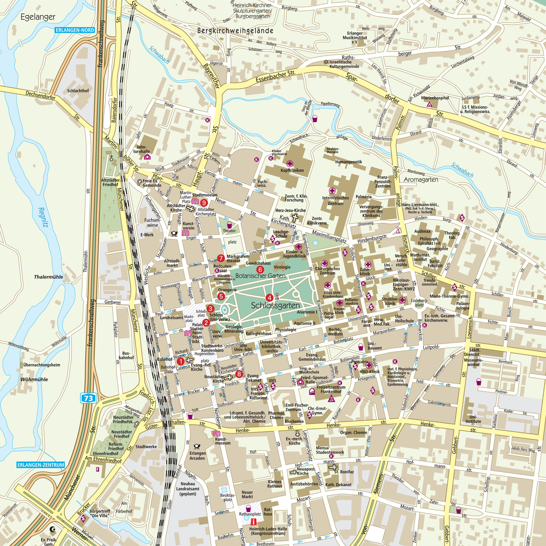 Erlangen VGN - Erlangen map
