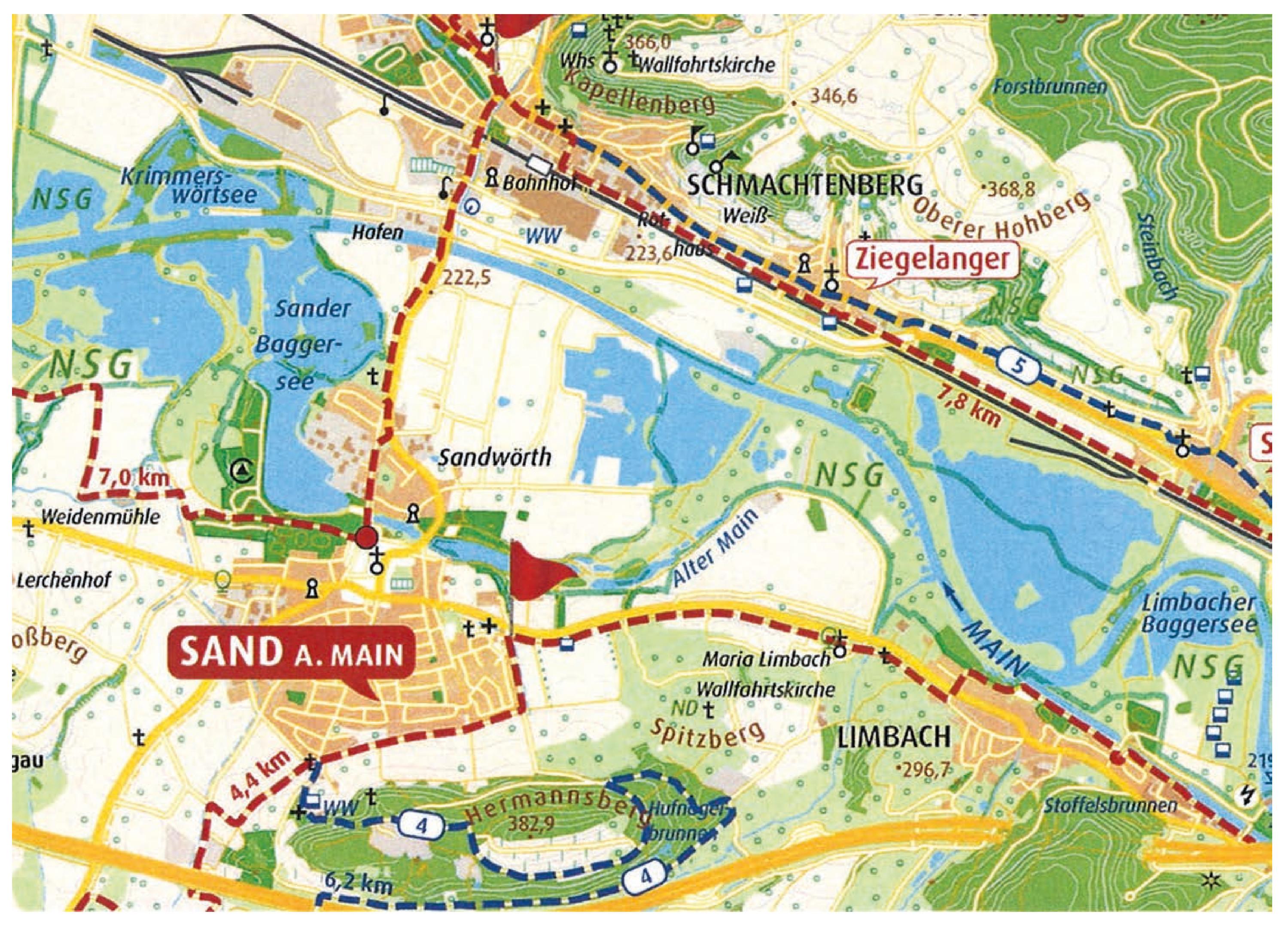 Main Fluss Karte.Zeil Am Main Vgn